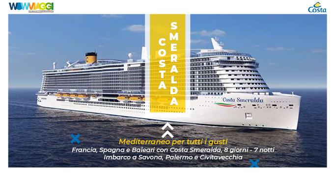 costa smeralda da savona (costa crociere): crociere 2021  wow viaggi