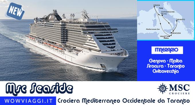 msc seaside da taranto (msc crociere): crociere 2021  wow viaggi
